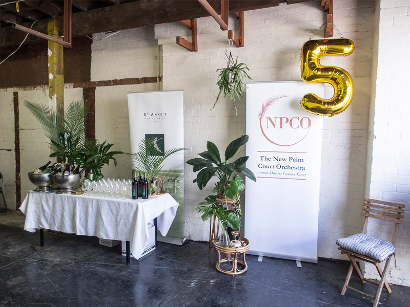 New Palm Court Orchestra NPCO Event Design and Styling Studio Mimi Moon