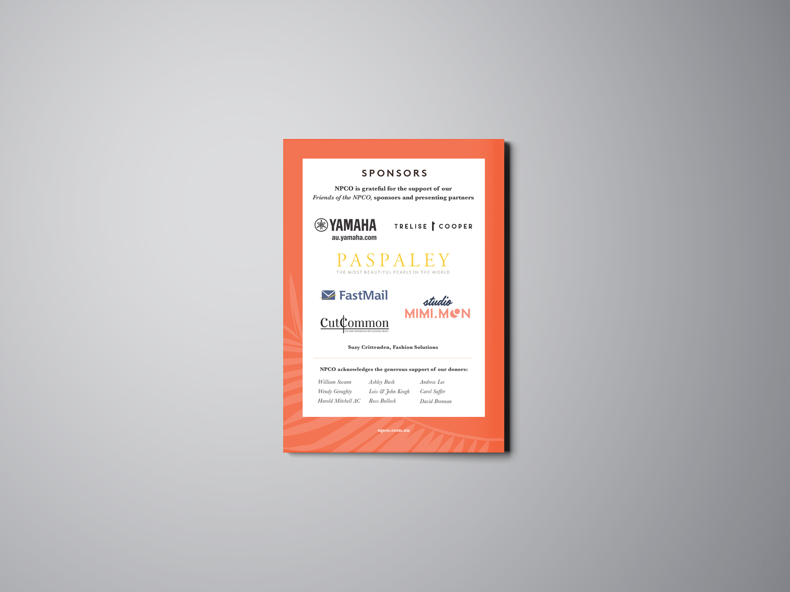 Studio-Mimi-Moon-New-Palm-Court-Orchestra-Brand-Identity-and-collateral-Concert-Booklet- Print design