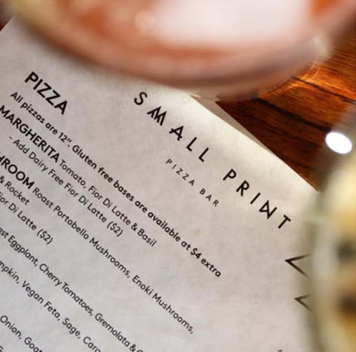 Small Print Pizza