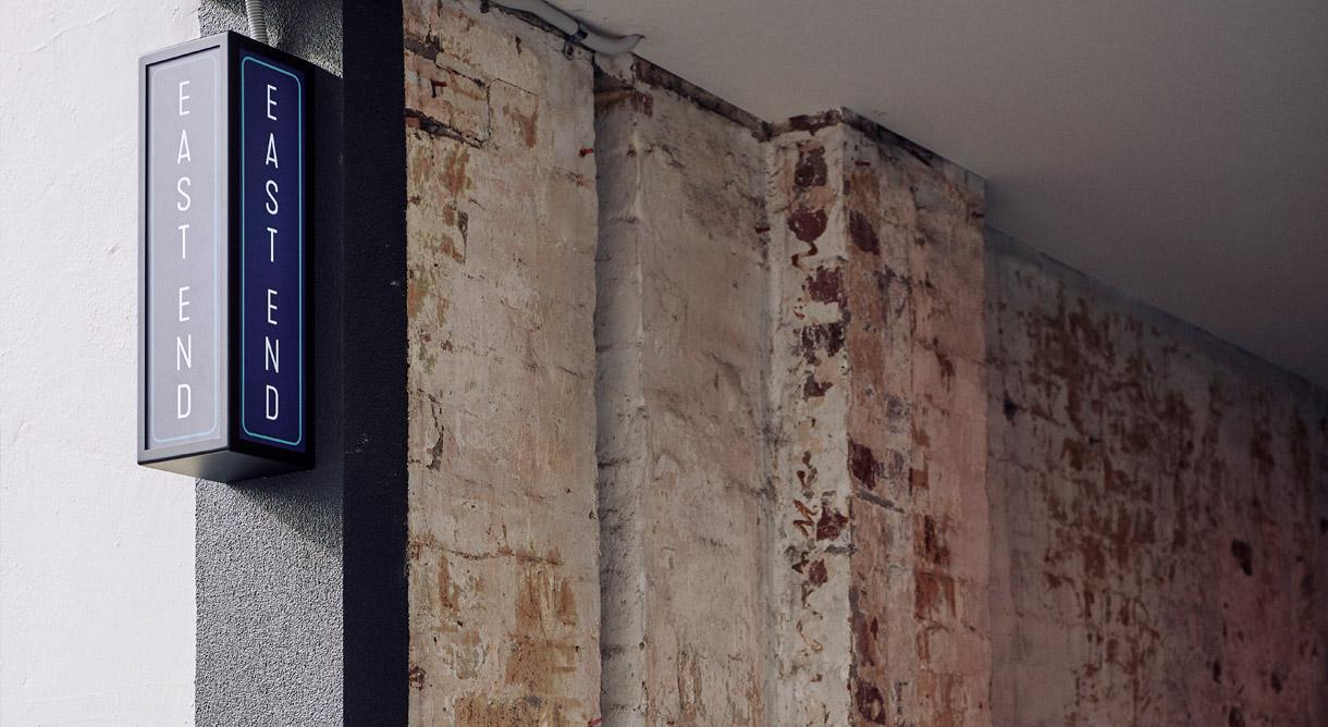 East-End-Wine-Bar-Images-Design Studio Mimi Moon branding Identity Rollout packaging website signage melbourne