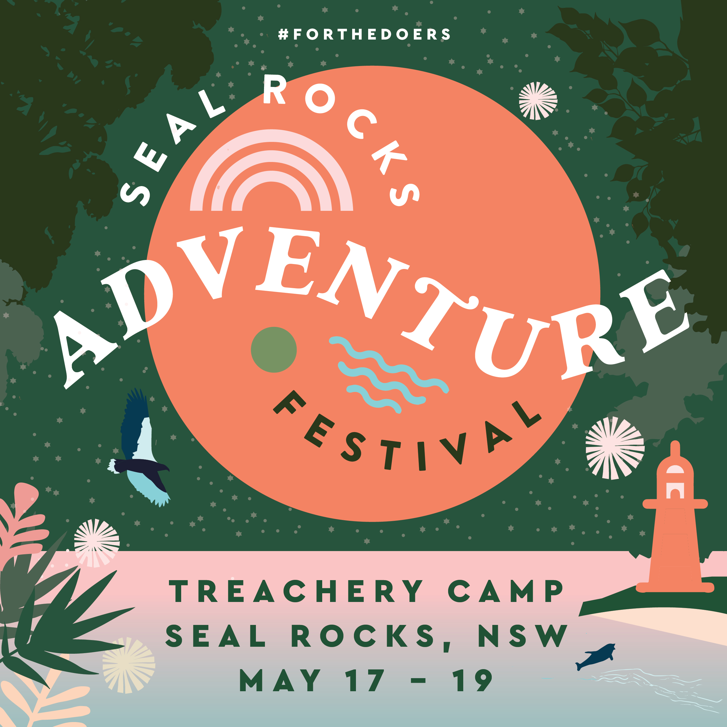 Seal Rocks Adventure Festival Event Identity design Studio Mimi Moon
