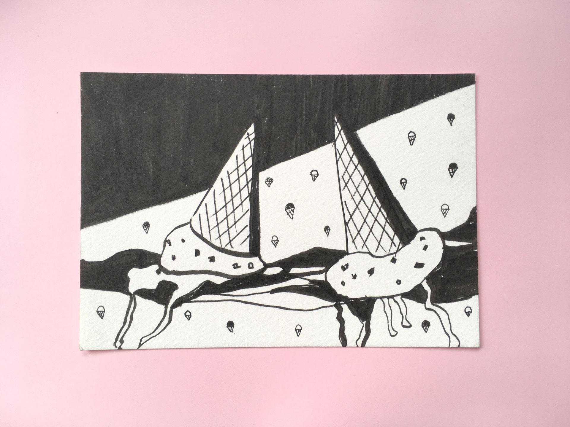 Double-Scoop-Illustration-by-Miriam-McWilliam-Studio-Mimi-Moon