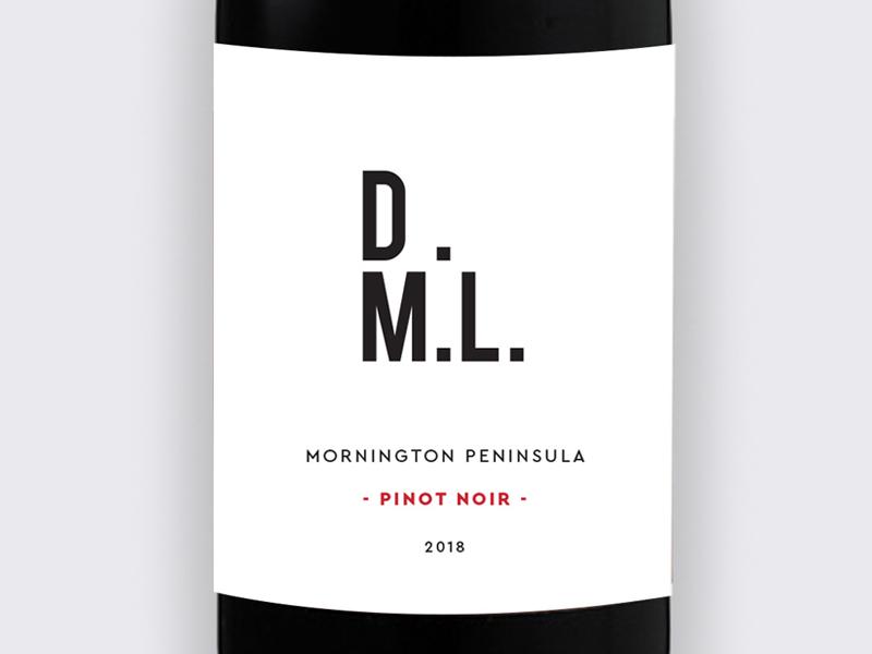 DML Pinot Noir Branding and Wine Label Packaging Design Studio Mimi Moon