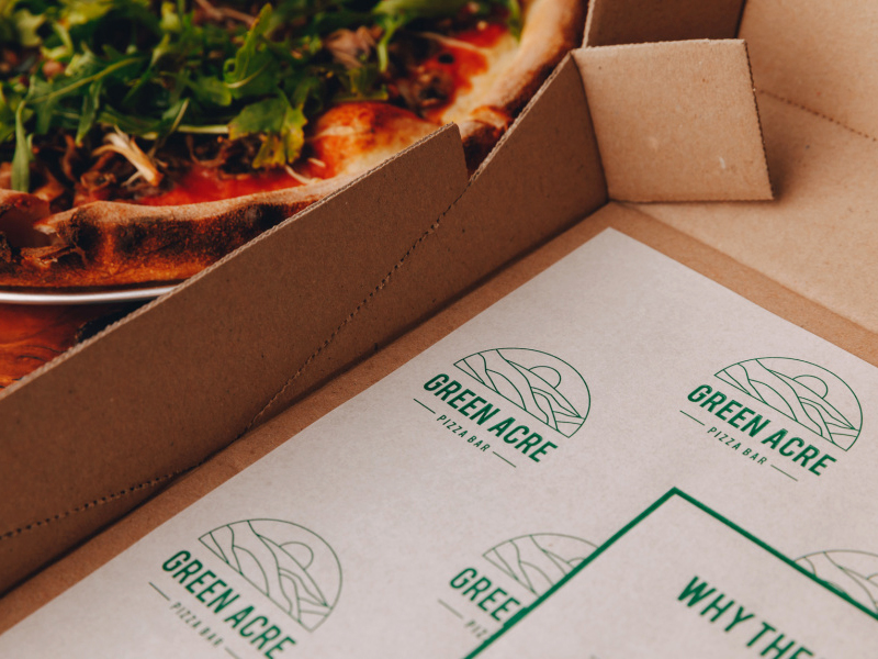 Green Acre Pizza Bar Studio Mimi Moon Design Branding Melbourne