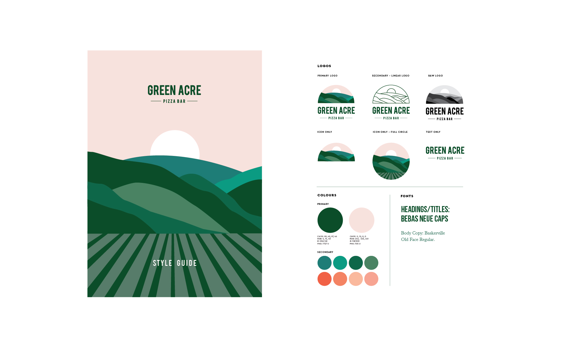 Green Acre Pizza Bar Studio Mimi Moon Design Branding Melbourne